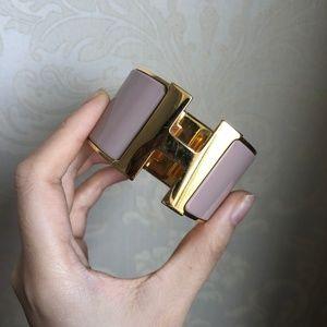 Enamel Extra Wide Clic Clac H Bracelet PM Pink